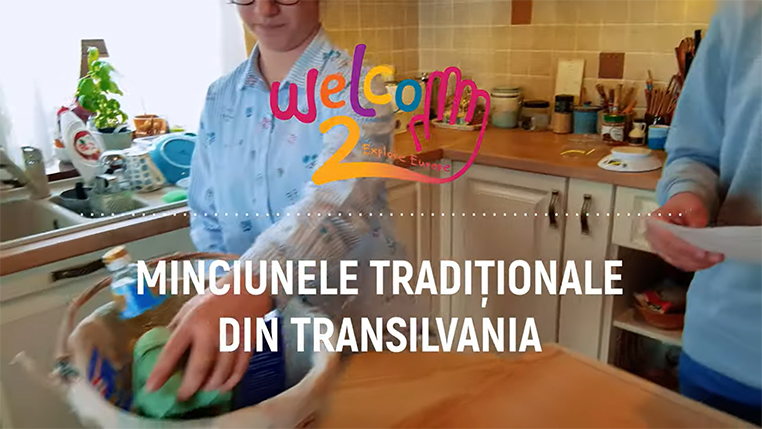 Baking the traditional Transylvanian desert – minciunele