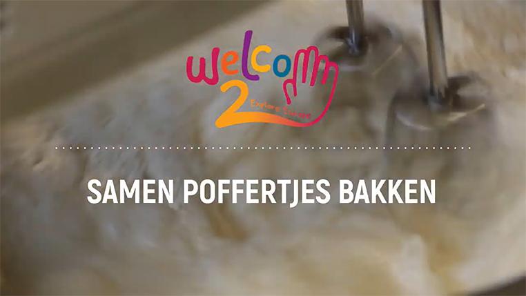 Making Dutch 'poffertjes' together